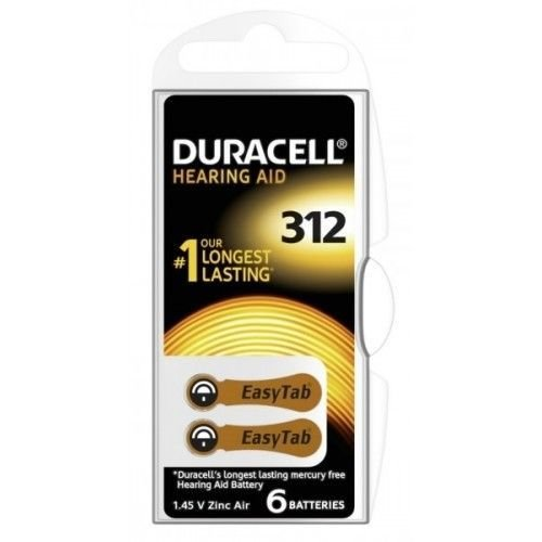 Duracell Activair DA 312 PR41 Gehoorbatterijen BL6