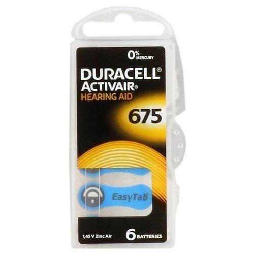 Duracell Activair DA 675 PR44 Gehoorbatterijen BL6