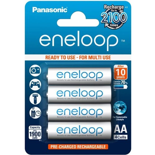 Panasonic ENELOOP Oplaadbare Batterijen AA 1900 mAh BL4