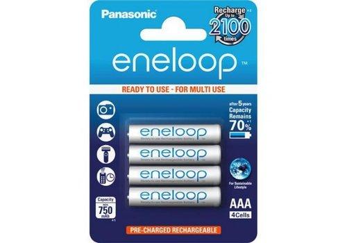 Panasonic ENELOOP AAA 750 mAh Oplaadbare Batterijen BL4