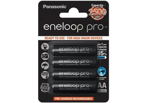 Panasonic ENELOOP PRO AA 2500 mAh Oplaadbare Batterijen  BL4