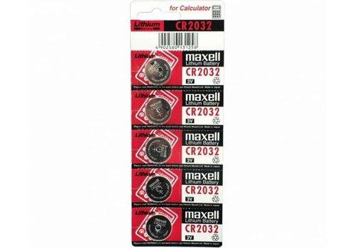 Maxell CR2032 Lithium 3V Batterij Blister van 5
