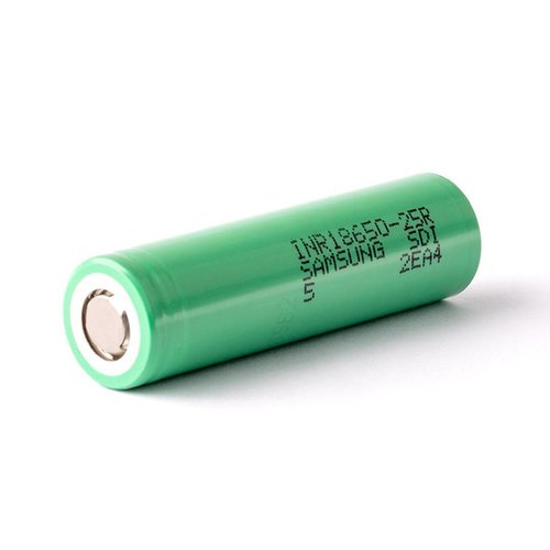 Samsung Li-Ion 18650 INR18650-25R 20A 2500 mAh - onbeveiligd