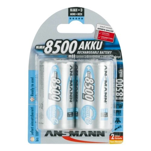 Ansmann Oplaadbare D Batterijen 8500 mAh MaxE BL2