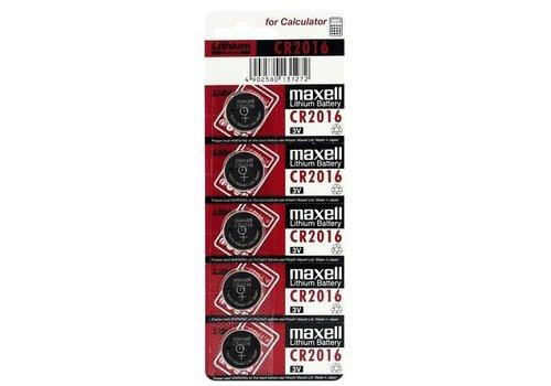 Maxell CR2016 Lithum Batterij Blister van 5