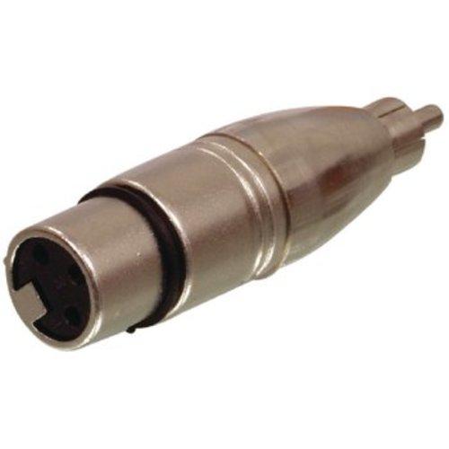 Valueline XLR-Adapter XLR 3-Pins Male - RCA Female Zilver