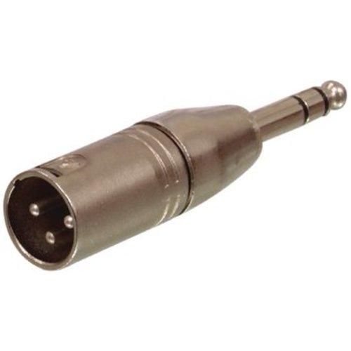 Valueline XLR-Adapter XLR 3-Pins Male - 6.35 mm Male Zilver