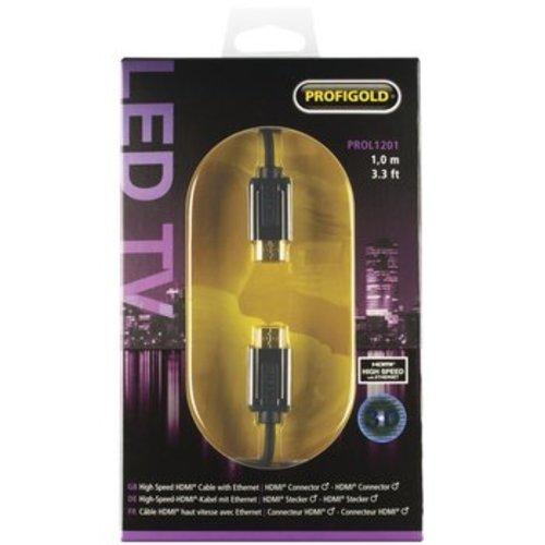 Profigold High Speed HDMI kabel met Ethernet HDMI-Connector - HDMI-Connector 1.00 m Zwart