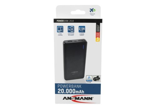 Ansmann Powerbank 20800 mAh met twee usb poorten