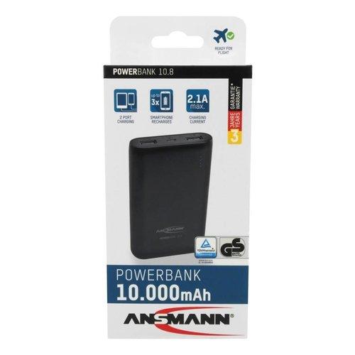Ansmann Powerbank 10800 mAh met twee usb poorten