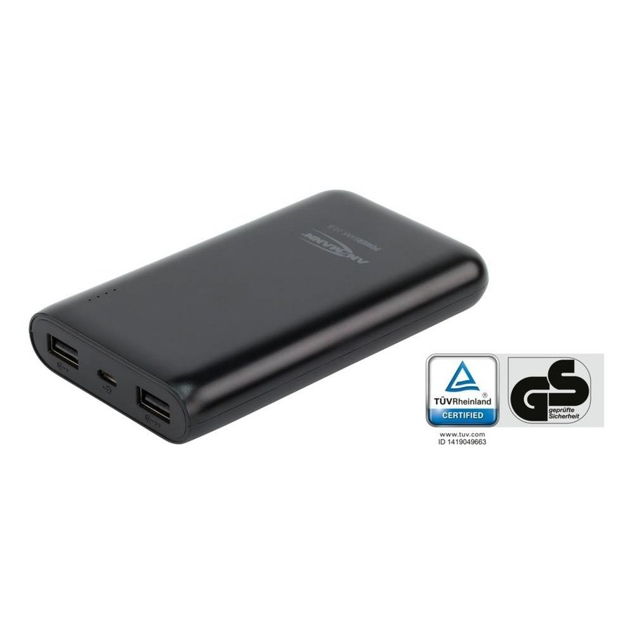 Powerbank 10800 mAh met twee usb poorten