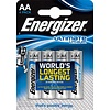 Energizer Ultimate Lithium L91 AA FR06 BL4