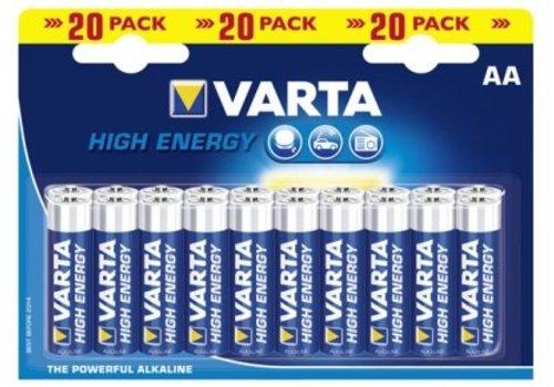 Varta HIGH ENERGY AA Alkaline Batterij BL20