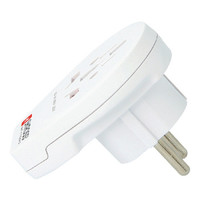 Reisadapter Wereld-naar-Europa USB Geaard