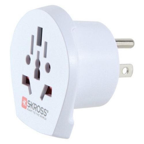 Skross Reisadapter Wereld-naar-USA USB Geaard