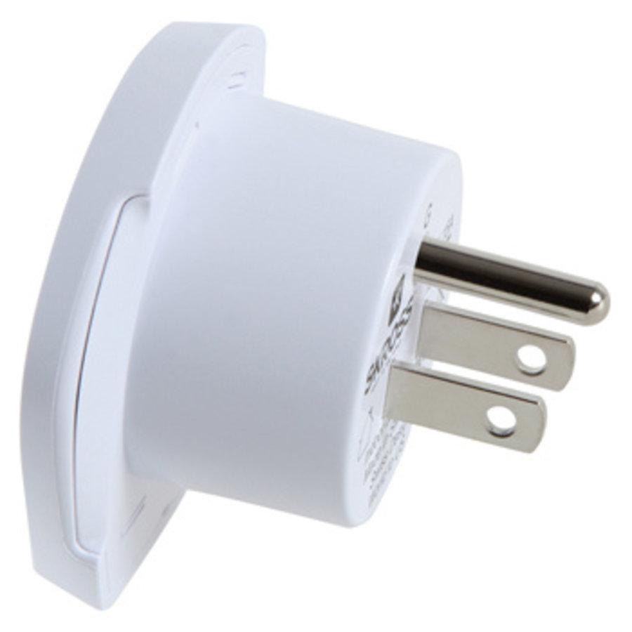Reisadapter Wereld-naar-USA USB Geaard