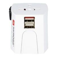 Reisadapter Wereld MUV USB Ongeaard