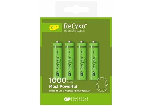 GP ReCyko+ AAA oplaadbare batterijen 950 mAh BL4