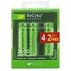 GP ReCyko+ AA R06 oplaadbare batterijen 2600 mAh BL4+2