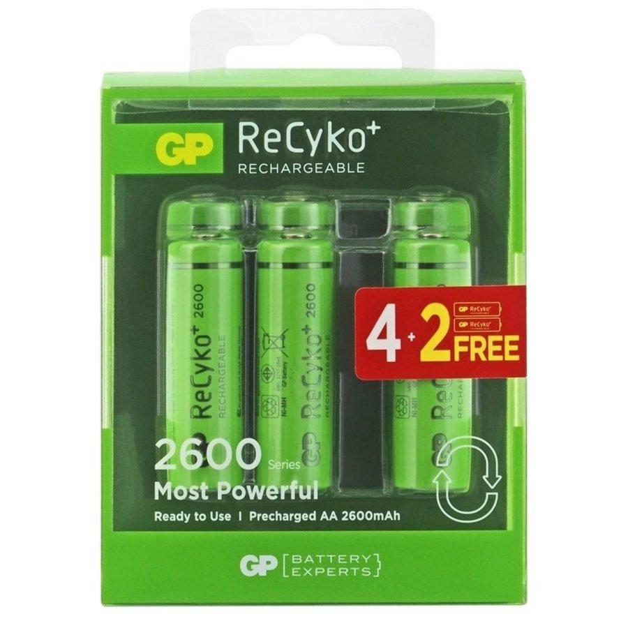 ReCyko+ AA R06 oplaadbare batterijen 2600 mAh BL4+2