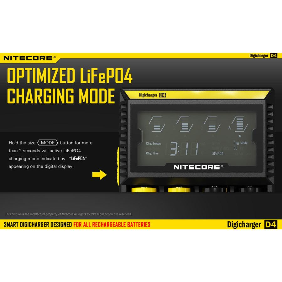 D4 Li-Ion batterijlader voor 4 batterijen