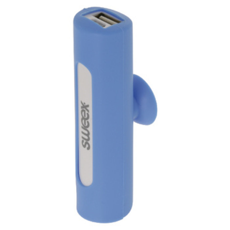 Draagbare Powerbank Lithium-Ion 2500 mAh USB Blauw