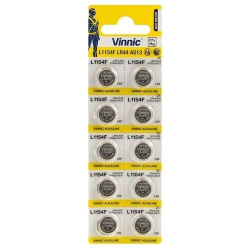 Vinnic LR44 Alkaline Knoopcellen - BL10