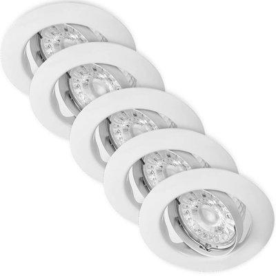 Energetic LED Einbaustrahler Weiß - 5W - Dimmbar & Verstelbaar