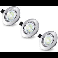 Beleuchtungonline.de LED Einbaustrahler Murillo 3 Stück 4W - Edelstahl