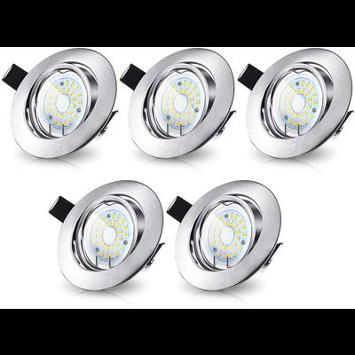 LED Einbaustrahler Murillo  5 Pack 4,7W - Edelstahl