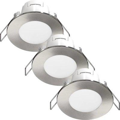 LED Einbaustrahler Albani 3 Stück 4.6W - Edelstahl