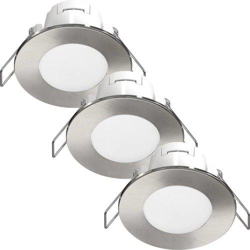 Beleuchtungonline.de LED Einbaustrahler Albani 3 Stück 4.6W - Edelstahl