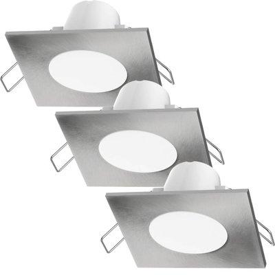 LED Einbaustrahler Albani Square 3 Stück 4.6W - Edelstahl