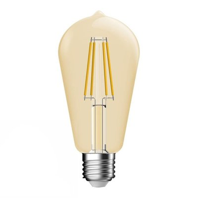 E27 LED Lampe Gold Filament Bulb Energetic - 4.4W - Ersetzt 34W