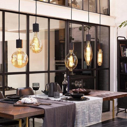 Calex Calex Giant Splash LED Flex - E27 - 200 Lm - Gold - Vintage Lampe