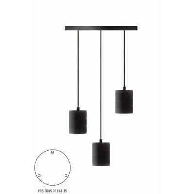 Calex Giant Pendelleuchte - 3 x E40 - Schwarz - Vintage Lampe