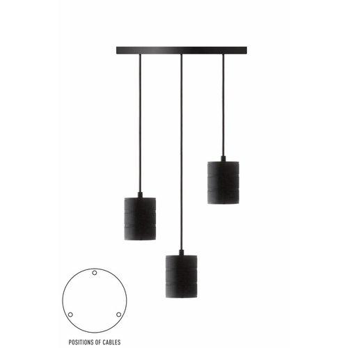 Calex Calex Giant Pendelleuchte - 3 x E40 - Schwarz - Vintage Lampe