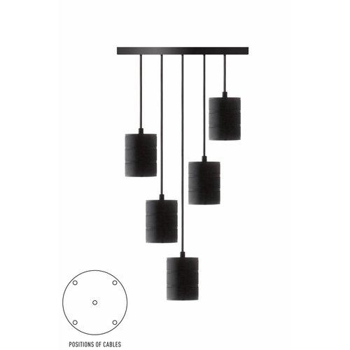 Calex Calex Giant Pendelleuchte - 5 x E40 - Schwarz - Vintage Lampe
