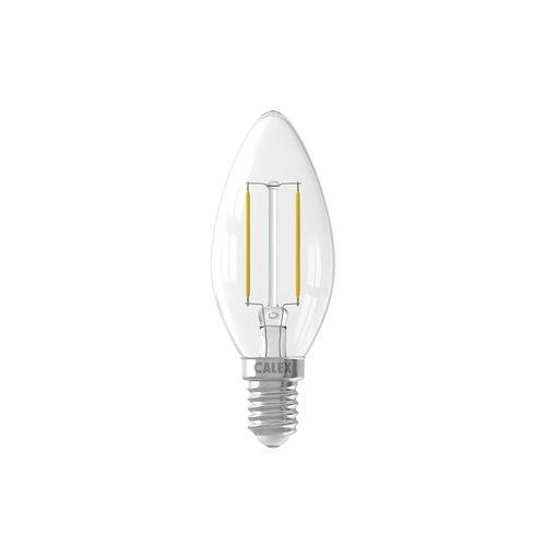 Calex Calex Kerze LED Lampe Filament - E14 - 200 Lm - Silver - Vintage Lampe