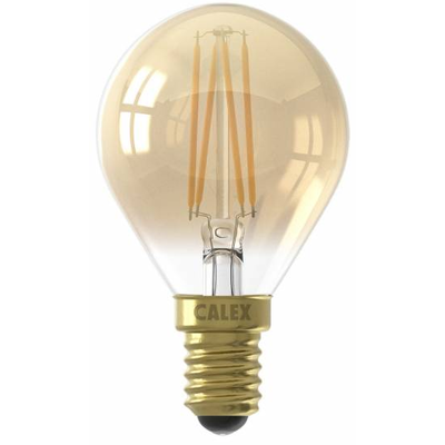 Calex Spherical LED Lampe Warm - E14 - 200 Lm - Gold Finish - Vintage Lampe