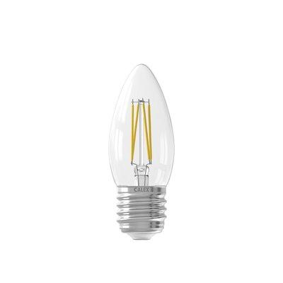 Calex Kerze LED Lampe Filament - E27 - 350 Lm - Silver - Vintage Lampe