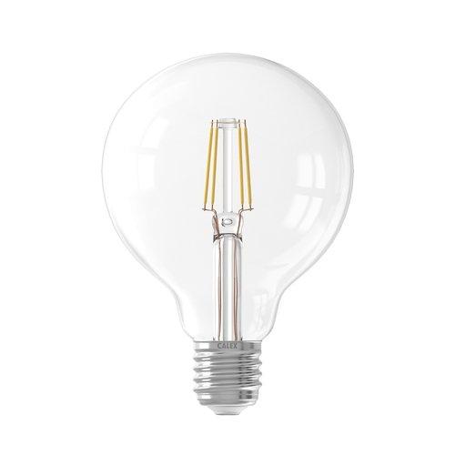 Calex Calex Globe LED Lampe Filament - E27 - 600 Lm - Silver - Vintage Lampe