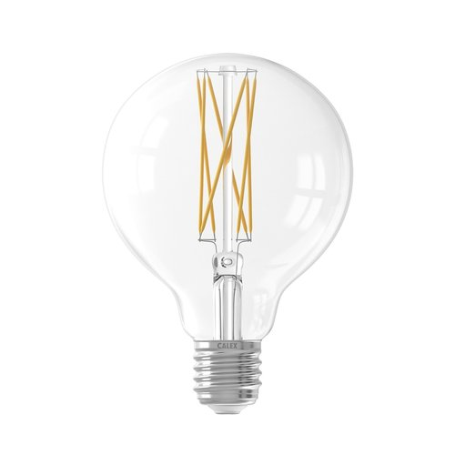 Calex Calex Globe LED Lampe Warm Ø80 - E27 - 320 Lm - Gold / Transparent - Vintage Lampe