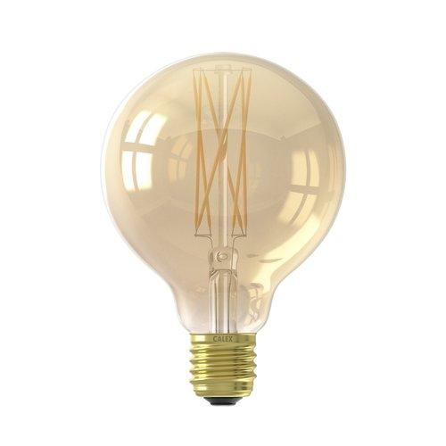 Calex Calex Globe LED Lampe Warm Ø95 - E27 - 320 Lm - Gold / Transparent - Vintage Lampe
