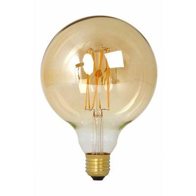 Calex Globe LED Lampe Warm Ø125 - E27 - 320 Lm - Gold / Transparent - Vintage Lampe