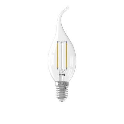 Calex Kerze LED Lampe Filament - E14 - 200 Lm - Silver - Vintage Lampe