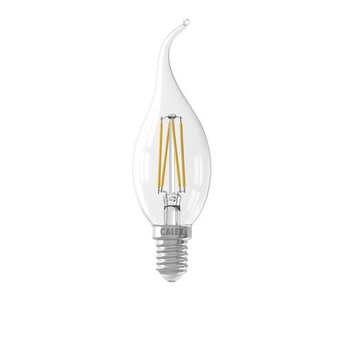 Calex Calex Kerze LED Lampe Filament - E14 - 350 Lm - Silver - Vintage Lampe