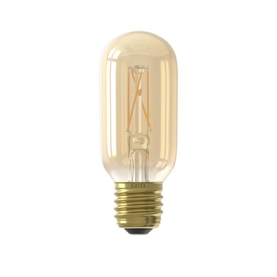 Calex Tubular LED Lampe Warm Ø45 - E27 - 320 Lm - Gold / Transparent - Vintage Lampe