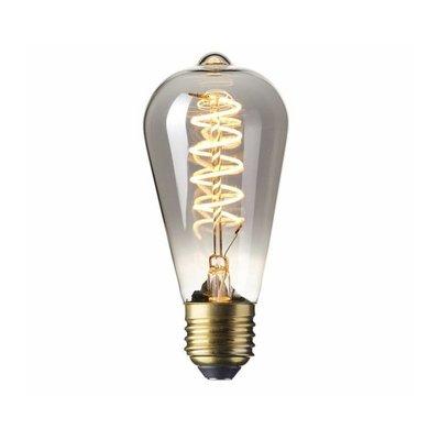 Calex Rustic LED Lampe Flexible - E27 - 100 Lm - Titan - Vintage Lampe