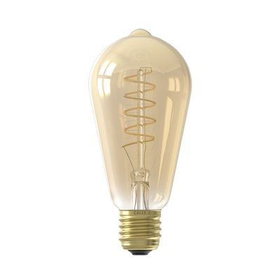 Calex Rustic LED Lampe Flexible - E27 - 200 Lm - Gold Finish - Vintage Lampe